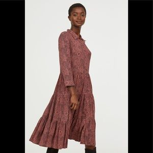 NWT William Morris H&M mauve shirt dress